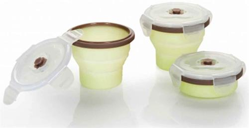 Babymoov Silicon Bowlset & Container 3*240ml