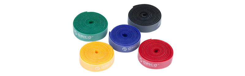 Orico velcro cable ties 5 x 1m Pack Multi Colour