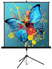 Esquire Tripod Projector Screen - Square format 150 x 150, Retail Box , 1 year Limited Warranty
