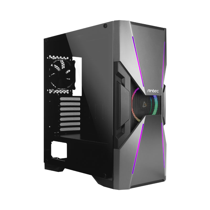 Antec DA601 RGB LED Tempered Glass Side (GPU 400mm)ATX|E-ATX|Micro ATX Gaming Chassis Black