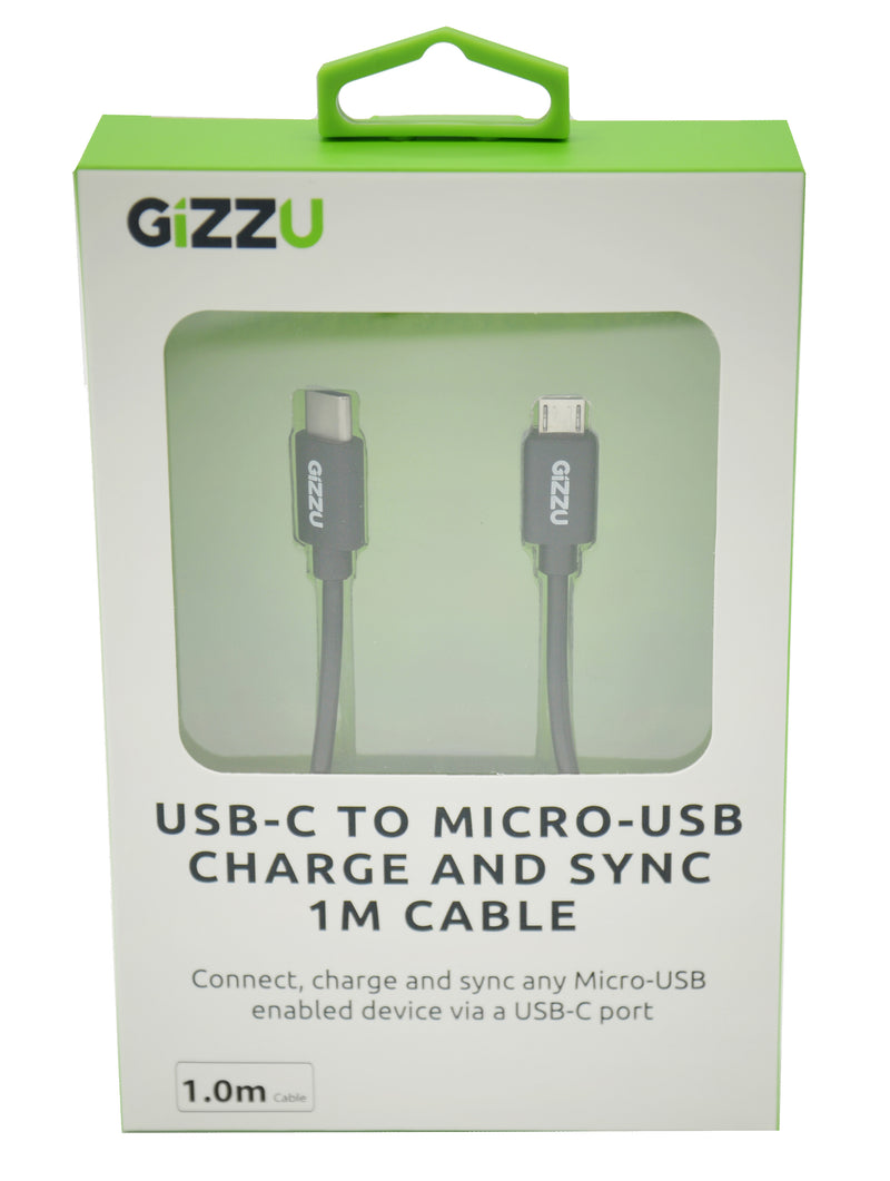 GIZZU USB-C to Micro B 1m Cable Black
