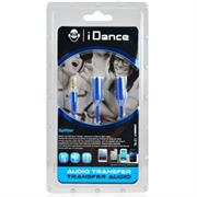 iDance Connect-C2 3.5mm 1-2 Splitter - Blue, Retail Box , 1 year Limited Warranty