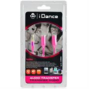iDance Connect-C2 3.5mm 1-2 Splitter - Pink, Retail Box , 1 year Limited Warranty