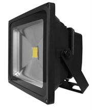 Luceco LED Floodlight - 30W - LFL30W50B05-01 - Black Body 0.5M - 2150 Lumens - 30000hrs, Halogen equivalent: 300 Watt, Beam Angle: 120°, Instant 100% output, Retail Box, 1 year warranty