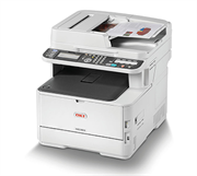 OKI MC363 MFP Printer - Copy, Print, Scan, Fax, Document feeder, Letter 42ppm, 512MB, Ethernet 10/100/1000 Base T/TX, Hi-Speed USB 2.0, 250 sheet input tray, Retail Box , 1 year Limited Warranty