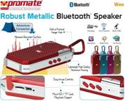 Promate Wee Robust Metallic Bluetooth Speaker - Gold, Retail Box, 1 Year Warranty