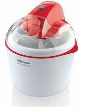 Mellerware Crema Deluxe Ice Cream Maker, 1.5l capacity, 600ml ice cream capacity, Anti skid rubber feet, Transparent lid with hole for filling ingredients, Retail Box 1 year warranty.