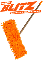 Tevo Orange Blitz Chenille Microfiber Mop - DMC203 - Perfect for tiled, vinyl, hardwood or wood laminated floors, Tackle hard to reach areas, Super-absorbent, Safe & non-scratch, Retail Box, 1 year warranty