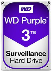 "Western Digital Purple (WD30PURZ) - 3.0TB 3.5"" SATA3 6.0Gbps Surveillance HDD, Intellipower™ Speed Management, 64MB Cache, 150MB/s Host to/from (Sustained), AllFrame, HD Video Optimised, , 2 year warranty"