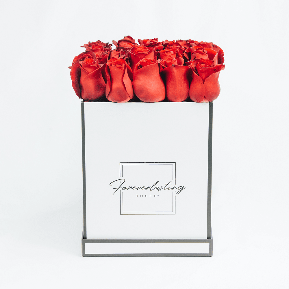 """Love Story"" Box (Red) - red roses, roses that last 1 yr, roses that last a yr, roses that last one yr, roses that last a year, roses that last 1 year, roses that last one year, red roses, pink roses, white roses, luxury roses, luxury gift, luxury rose box, eternity roses, forever lasting roses"