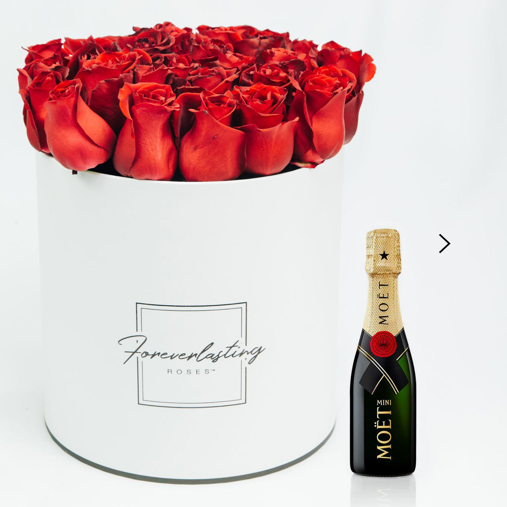 """He Loves Me"" Box (Red) - red roses, roses that last 1 yr, roses that last a yr, roses that last one yr, roses that last a year, roses that last 1 year, roses that last one year, red roses, pink roses, white roses, luxury roses, luxury gift, luxury rose box, eternity roses, forever lasting roses"