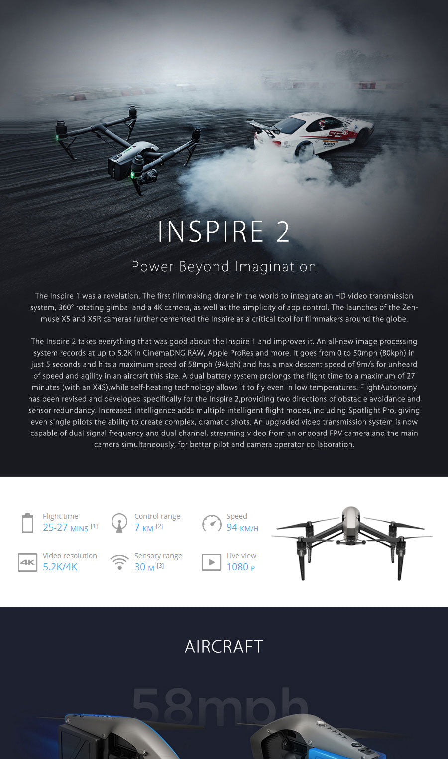 Dji Inspire 2 Drone Rc Quadcopter With Zenmuse X5s X4s 52k Or Fpv 4k Videospotlight Prointelligent Flight