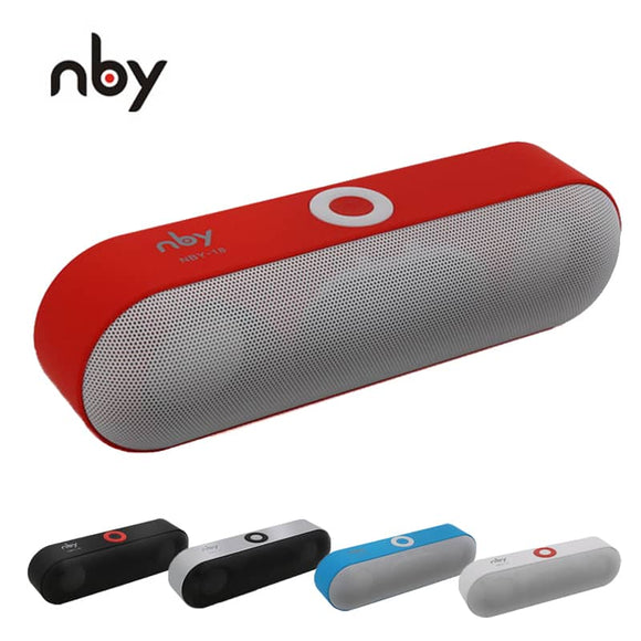 NBY-18 Mini Bluetooth Speaker Portable Wireless Speakers 3D HD Stereo Sound Box Surround Boombox Music FM Radio TF AUX USB MP3