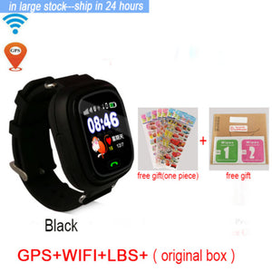 Hold Mi Q90 GPS Phone Positioning Fashion Children Watch 1.22 inch Color Touch Screen WIFI SOS Smart Watch Baby Q80 Q50 Q60 Find