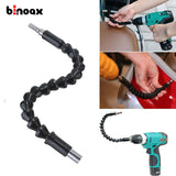 Binoax 295mm Electronics Drill Black Flexible Shaft Bits Extention Screwdriver Bit Holder Connect Link for Electronic Drill