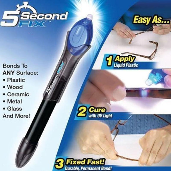 5 Second Fix UV Light Repair Tool With Glue Super Powered Liquid Plastic Welding Compound