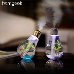 Homgeek 400ml Colorful Landscape Humidifier LED Night Light Bulb USB Mini Micro Spray Hydrating Ultrasonic Mist Maker For Home