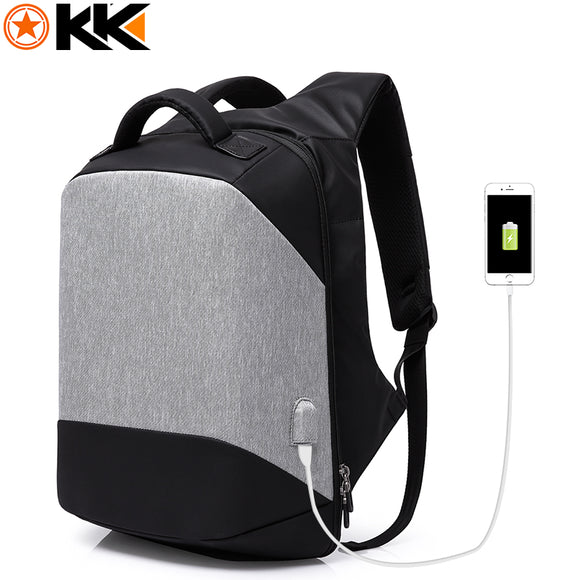 KAKA USB Charging 15.6 inch Laptop Anti theft Backpack Men Fashion