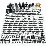 LegoSWAT Soldiers 8-Pack with Bike Quad & Weapons
