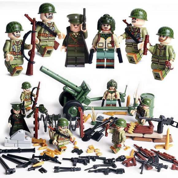 Lego US Soldiers WW2 Minifigures