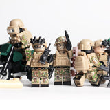 Russian Spetsnaz Special Forces 6-Pack with Dog Bike & Weapons