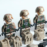 People's Liberation Army Special Operations Forces Minifigures 6-Pack with Dog & Weapons