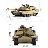 M1A2 Abrams Tank 2in1 1463 Pieces - The Brick Armory