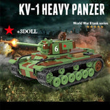KV 1 Russian Heavy Panzer Tank 768 Pieces 3 Soldiers + Weapons