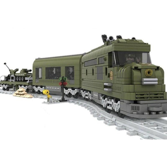 Lego Army Train WW2