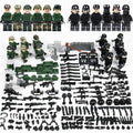 US Marines + SWAT Operations 12-Pack with Weapons & Barricades