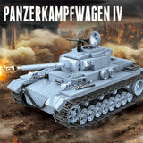 Panzerkampfwagen IV German Tank 716 Pieces 3 Soldiers + Weapons