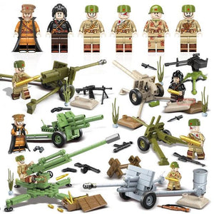 Lego Russian Soldiers WW2 Mortars Team