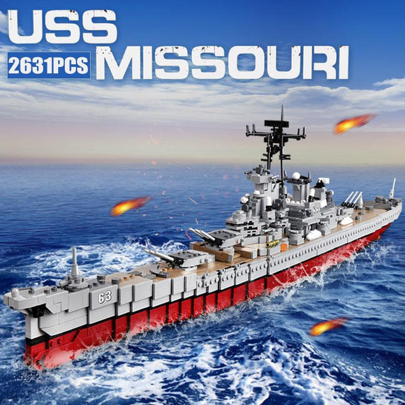 Compatible Lego Toy Uss Missouri Battleship The Brick Armory