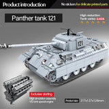 Panther Tank 121 990 Pieces 6 Soldiers + Weapons