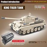 King Tiger Tank 978 Pieces 6 Soldiers + Weapons