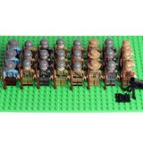 WW2 Soldiers Minifigures 24-Pack with Weapons - All Fighting Countries