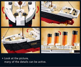 Titanic Ship Movie Playset with Jack & Rose Minifigures 1021 Pieces