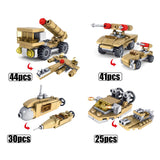 Army Desert Tank 16in1 544 Pieces - The Brick Armory
