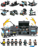 SWAT Playset 8in1 Truck/Vehicles 647 Pieces 8 Minifigures