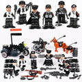 German Soldiers WW2 Playset 6-Pack with Sidecar & Weapons