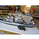 Navy Destroyer Battleship 970 Pieces 6 Soldiers & Helicopter