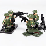 US Soldiers WW2 Minifigures 6-Pack with Weapons & Cannons