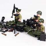 US Paratroopers WW2 Minifigures 6-Pack with Weapons & Accessories