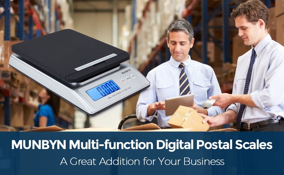 66 lb Digital Shipping Postal Postage Scale with Hold & Tare Function