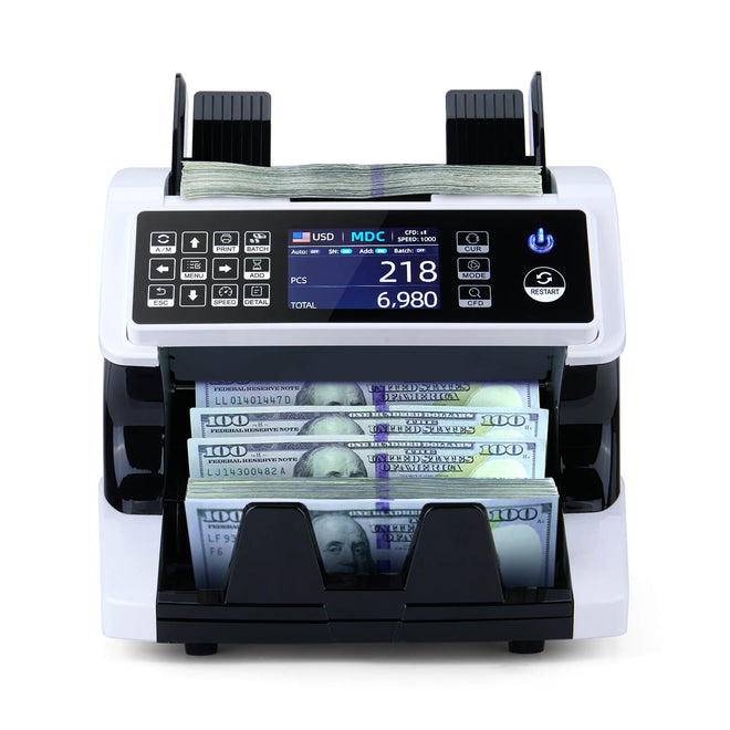 Mixed Denomination Money Counter Machine and Sorter and Cash Counter IMC01 | MUNBYN