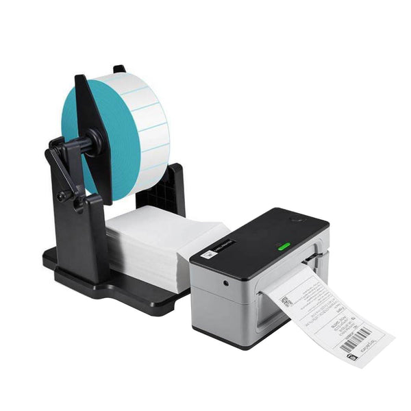 2 in 1 Label holder for Shipping Thermal Label Printer for roll and fan-fold stacks labels
