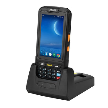 MUNBYN 2D Handheld android 5.1 POS terminal with touch screen Honeywell barcode scanner GPS with charger cradle PDF417