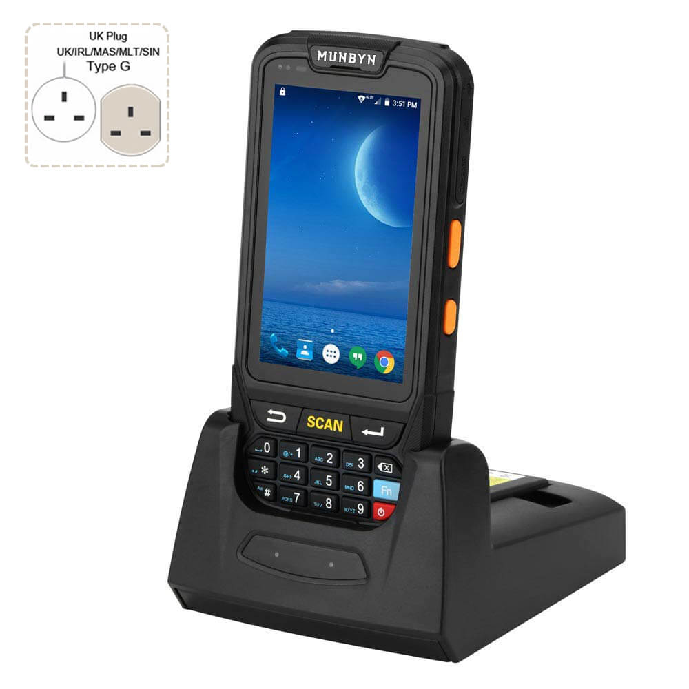 Rugged Handheld POS Terminal 2D Honeywell Scanner with Dock Charger IPDA018