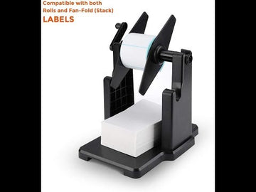 Roll and Fan-Fold label holder for shipping label printer, 2 in 1 label holder