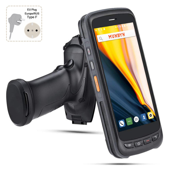 Upgraded Android 8.1 Handheld QR Barcode Scanner with Pistol Grip IPDA056